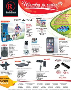 RADIOSHACK new iphone 6 disponible GANA ademas premios con tu raspin - 03oct14