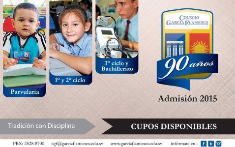admision 2015 colegio garcia flamenco - 27oct14