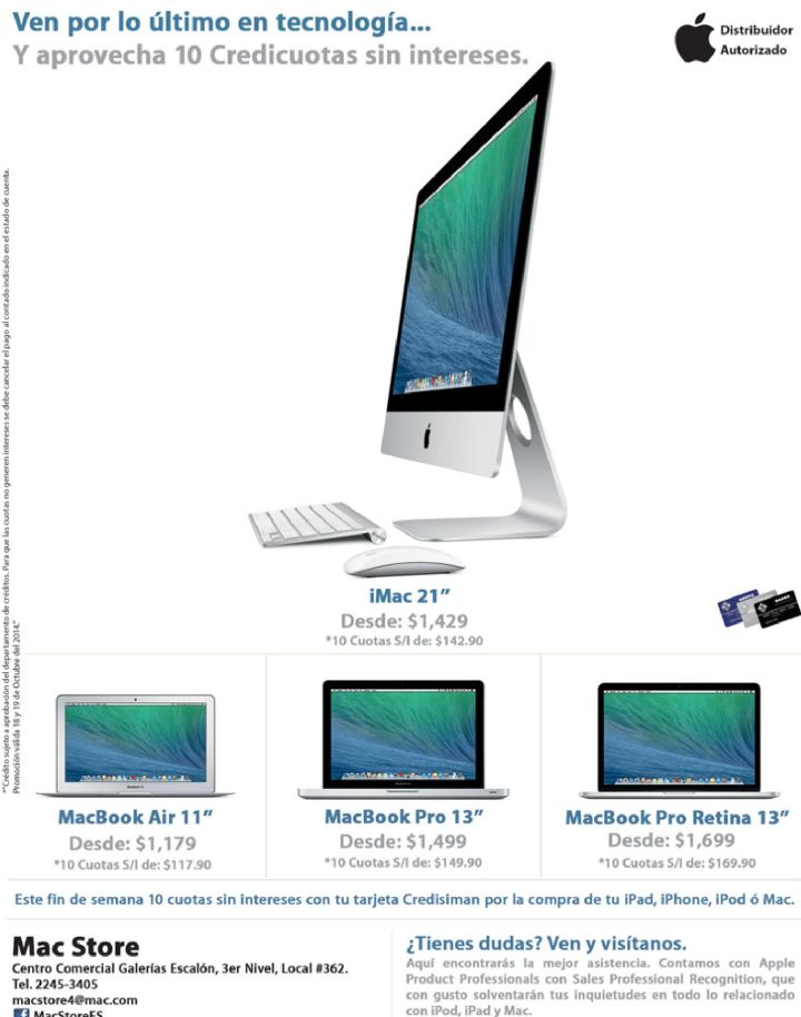 last technology Mac Book Pro retina - 18oct14