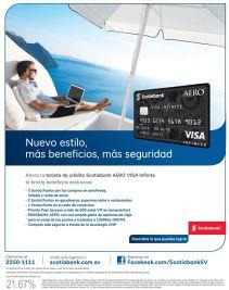 new style credit card VISA infinite AERO by ScotiaBANK