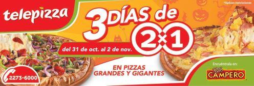 quieres pizza al 2x1 3 dias telepizza - 31oct14