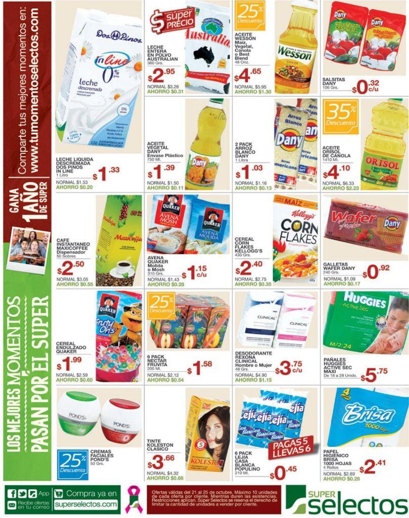variedad de descuentos y productos del selectos - 21oct14