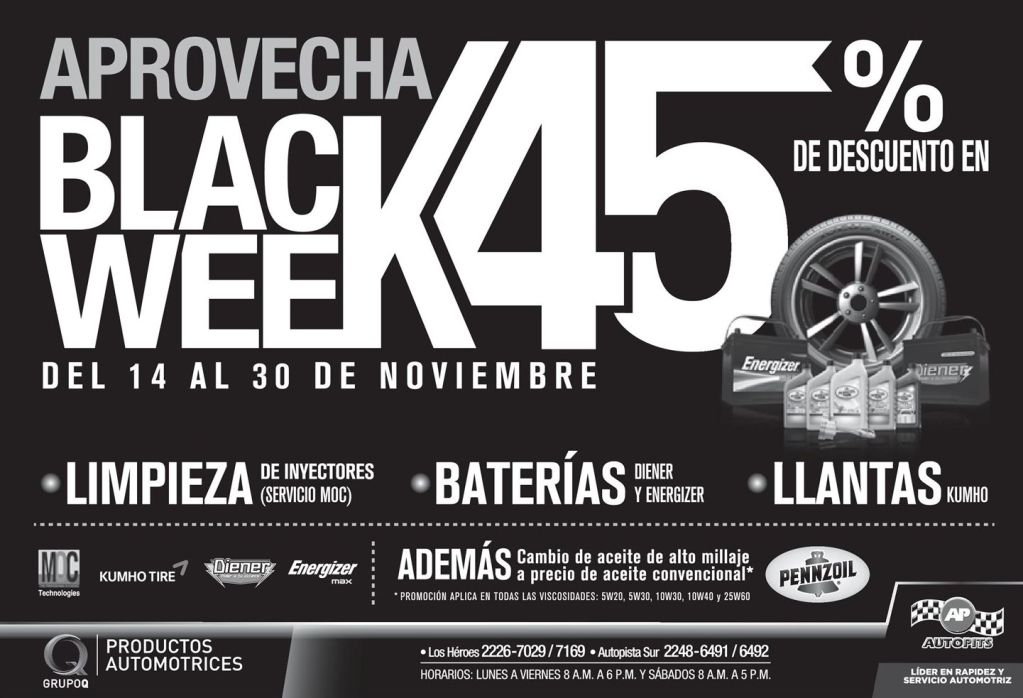 AUTO PITS black weekend promotions - 14nov14