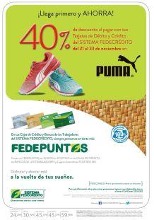 Ahorro en la compra de tus zapatillas deportivas PUMA - 21nov14