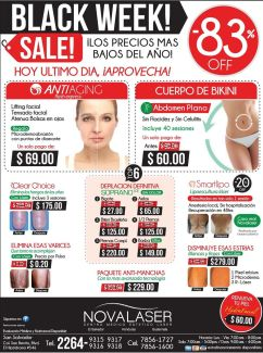 BLACK WEEK novalaser belleza medicinal - 26nov14