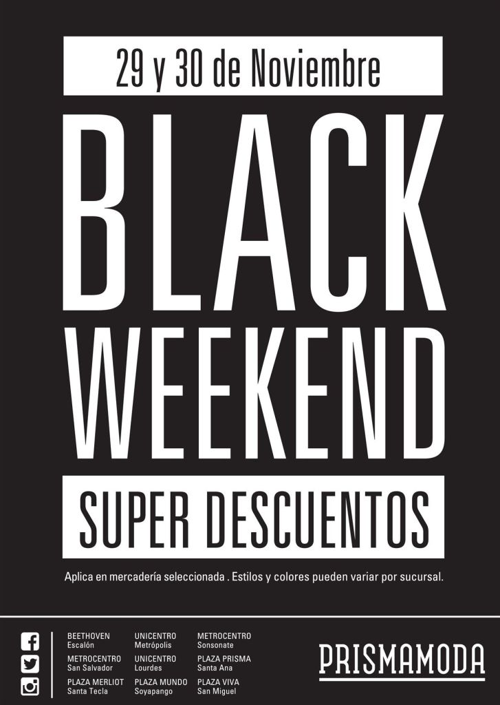 BLACK WEEKEND descuentos prisma moda - 29nov14