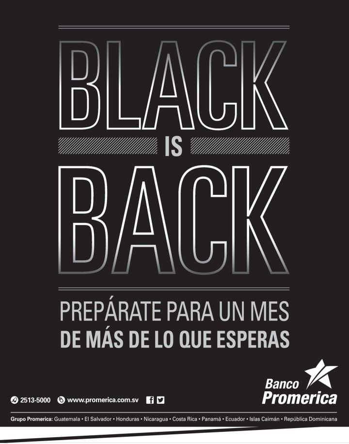 Banco Promerica promotions BLACK november 14