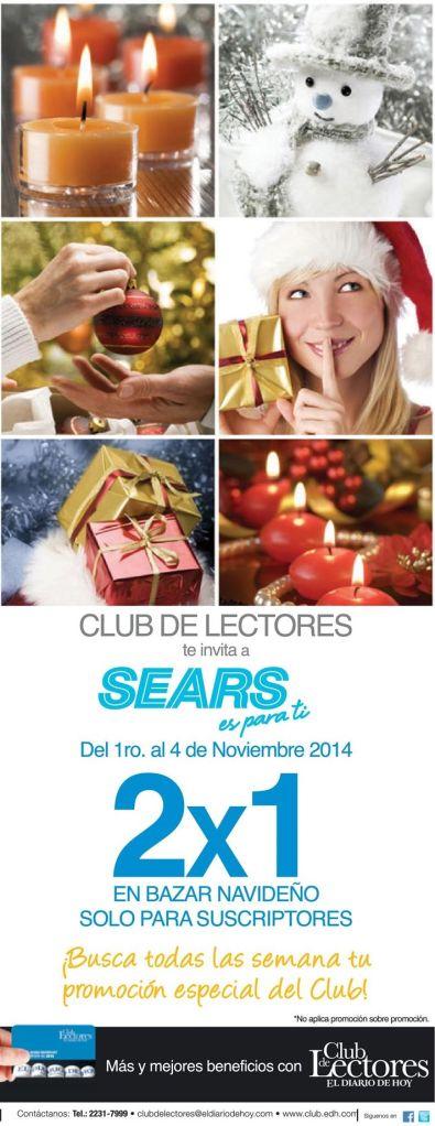 Bazar navideño promociones fin de semana sears - 01nov14