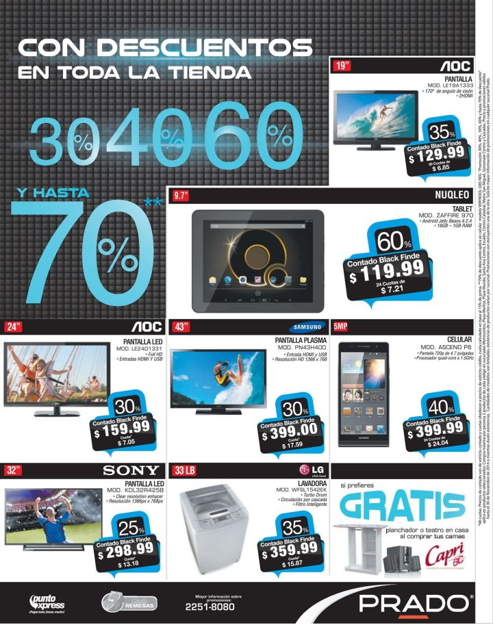Black Friday PRADO el salvador super descuentos - 27nov14