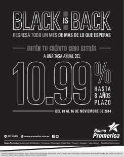 Credir financial promotions BLACK is back - 10nov14