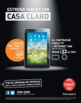 Estreba TABLET con tu paquete CASA CLARO - 28nov14