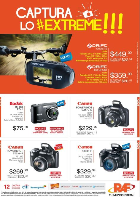 Extreme CAMERAS for sport issues - 12nov14