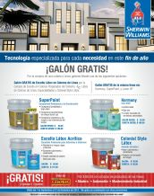 GRATIS por la compra de tus productos sherwin williams - 24nov14