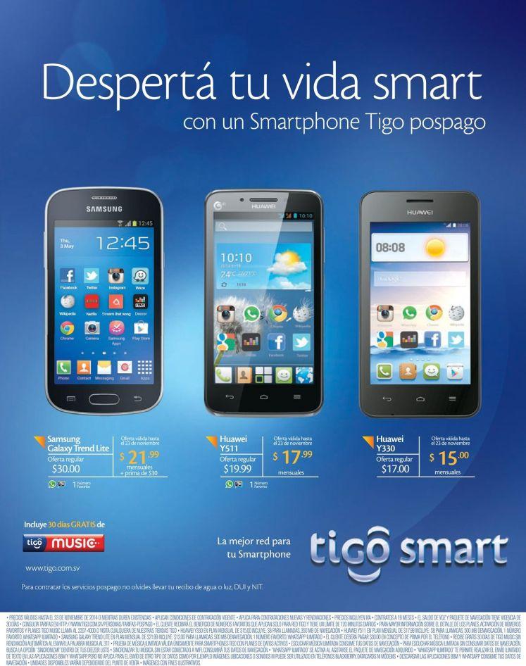 HUAWEI smartphones tigo promotions - 19nov14