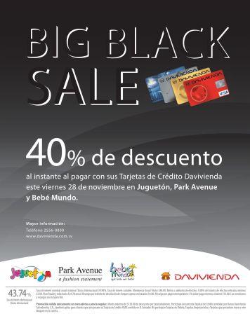 Jugueton BIG black sale discounts bebe mundo and park avenue - 27nov14