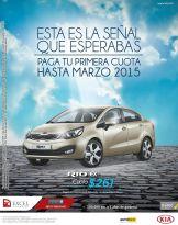 KIA RIO EX cuota baja hasta marzo 2015
