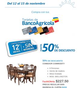 LA CURACAO ofertas Compras con tarjetas de credito banco agricola