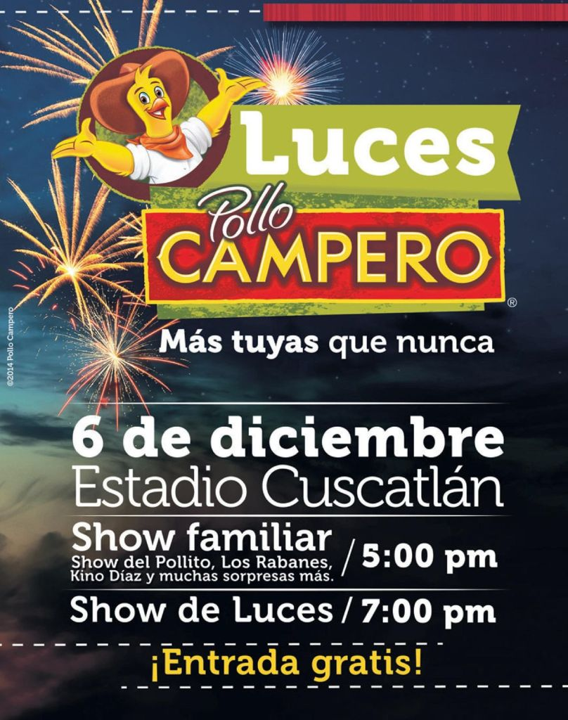 Luces POLLO CAMPERO 2014 el salvador
