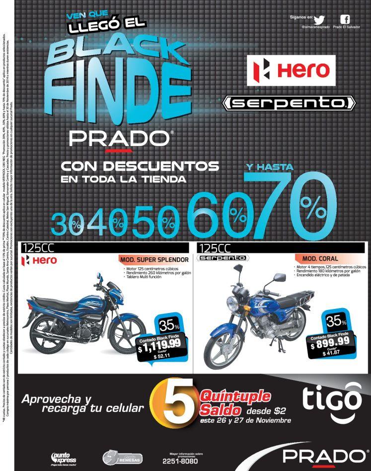 Motos ofertas BLACK FINDE almacenes PRRADO - 27nov14