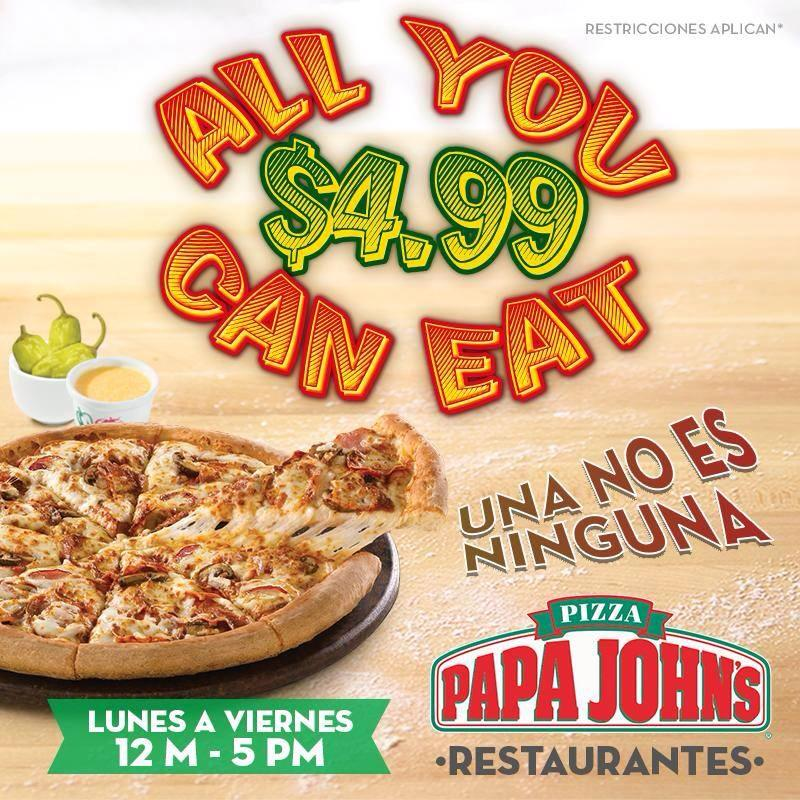 pizzas all you can eat papa johns el salvador  06nov14