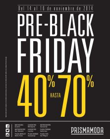 PRE Black Friday PRISMA MODA discounrs - 14nov14