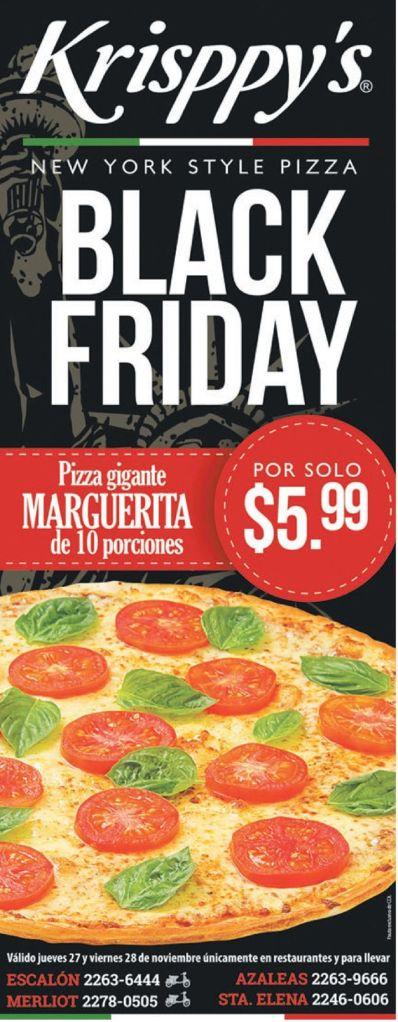 Pizzeria KRISPPYS black friday offer - 27nov14