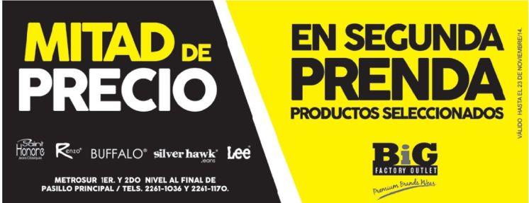 Promociones MITAD DE PRECIOS outlet factory - 07nov14