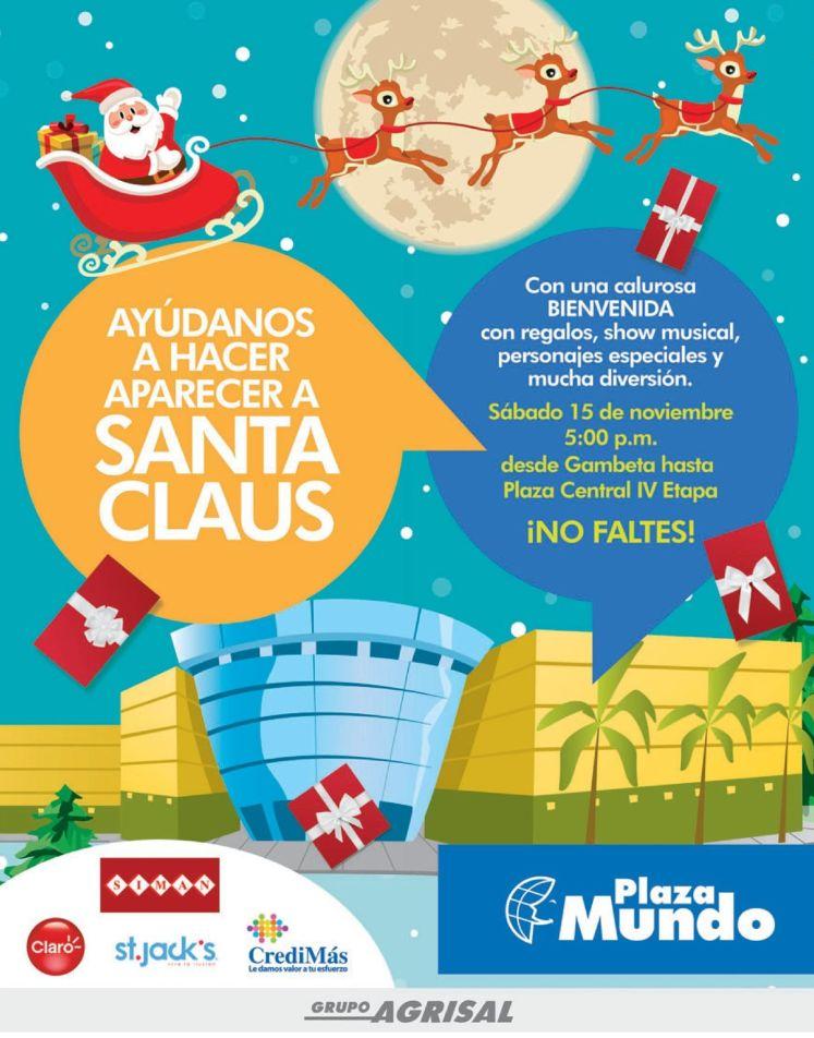 SANTA CLAUS llega a plaza mundo - 14nov14