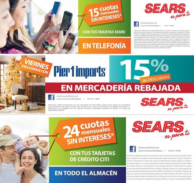 SEARS descuentos y ofertas de viernes - 21nov14