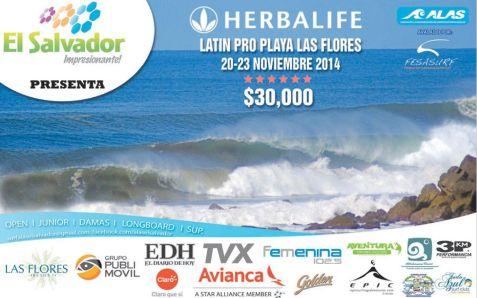 SURF el salvador HERBALIFE latin pro PLAYA LAS FLORES