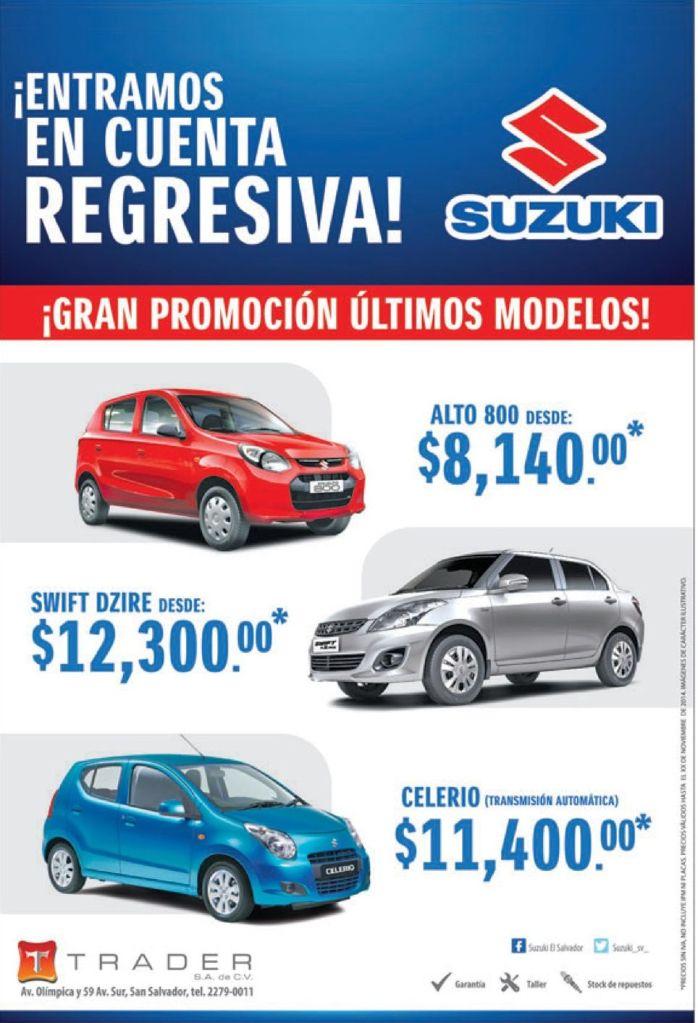 SUZUKI ofertas en autos compactos y economicos - 10nov14