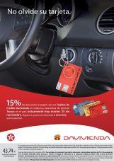 TEXACO descuento en gasolina tarjetas DAVIVIENDA - 25nov14