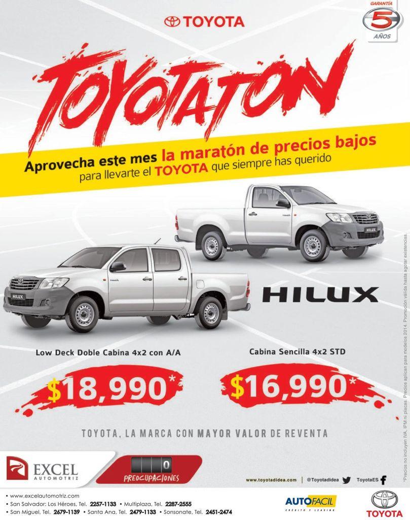 TOYOTA HILUX maraton de precios bajos - 05nov14