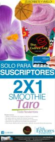 The Coffee cup Promocion SMOOTHIE TARO 2x1 - 05nov14