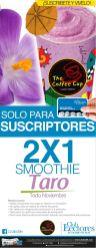 The Coffee cup Promocion SMOOTHIE TARO 2x1 - 05nov14
