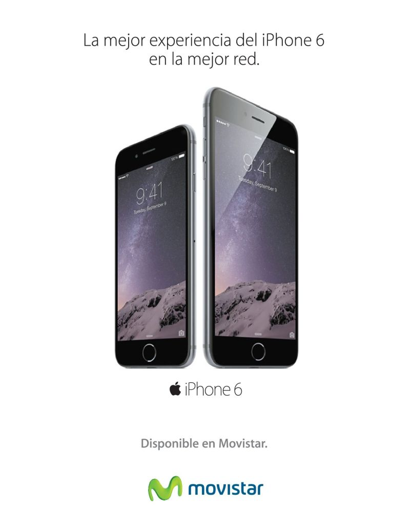 The better experience iPhone 6 by MOVISTAR - 14nov14