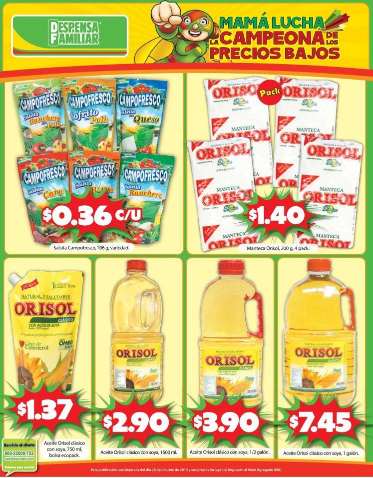 ofertas en productos basicos para cocinar - 14nov14