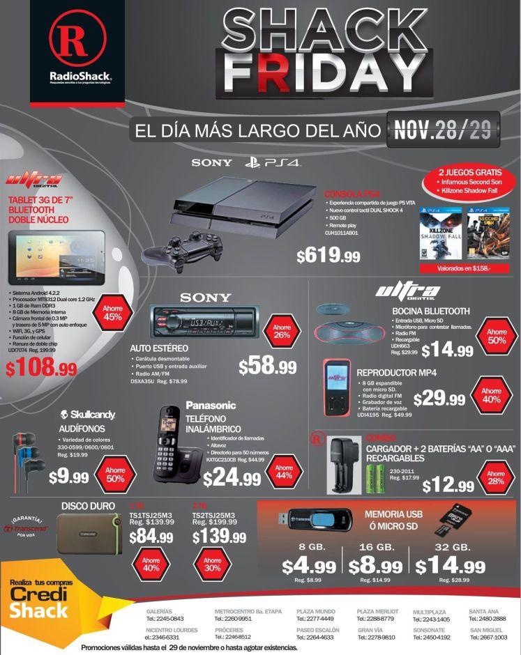 promociones SHACK FRDAY video games and more - 28nov14