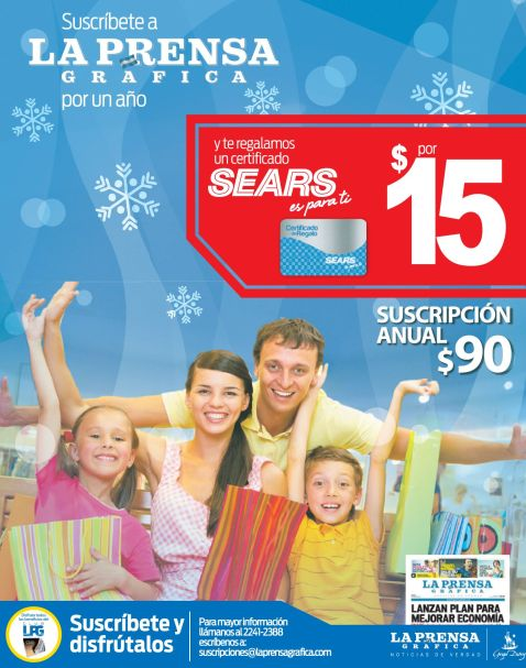 Certificado de regalo SEARS - 04dic14