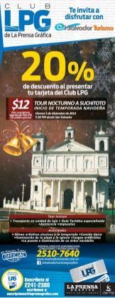 Descuento TOUR NOCTURNO SUCHITOTO - 04dic14