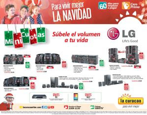 Equipos de sonido LG ofertas la curacao - 03dic14