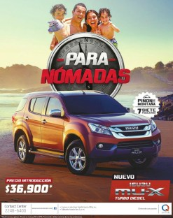 Family vacation new ISUZU mu-x pickup 4x4