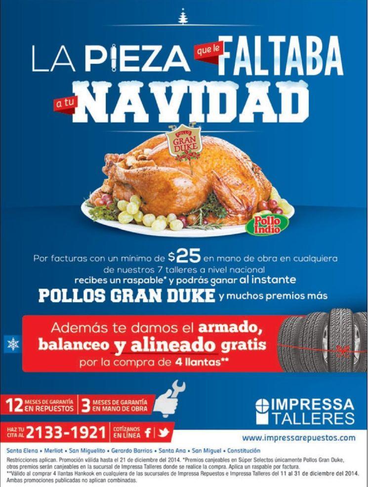 GANA al instante pollo gran duke para tu cena de navdad - 18dic14