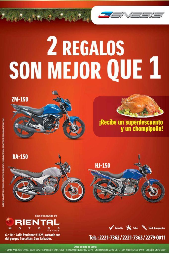 GENESIS motos promocion navidad ORIENTAL motors - 03dic14