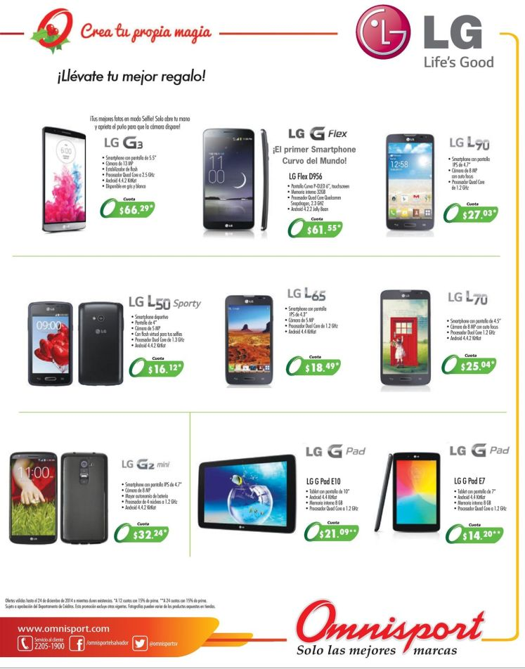 LG technology smartphone offers - 17dic14