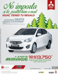 Lancer MIRAGE 2015 auto motors mitsubishi