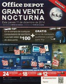OFFICE DEPOT promocion Gran venta ncturna de navidad - 11dic14