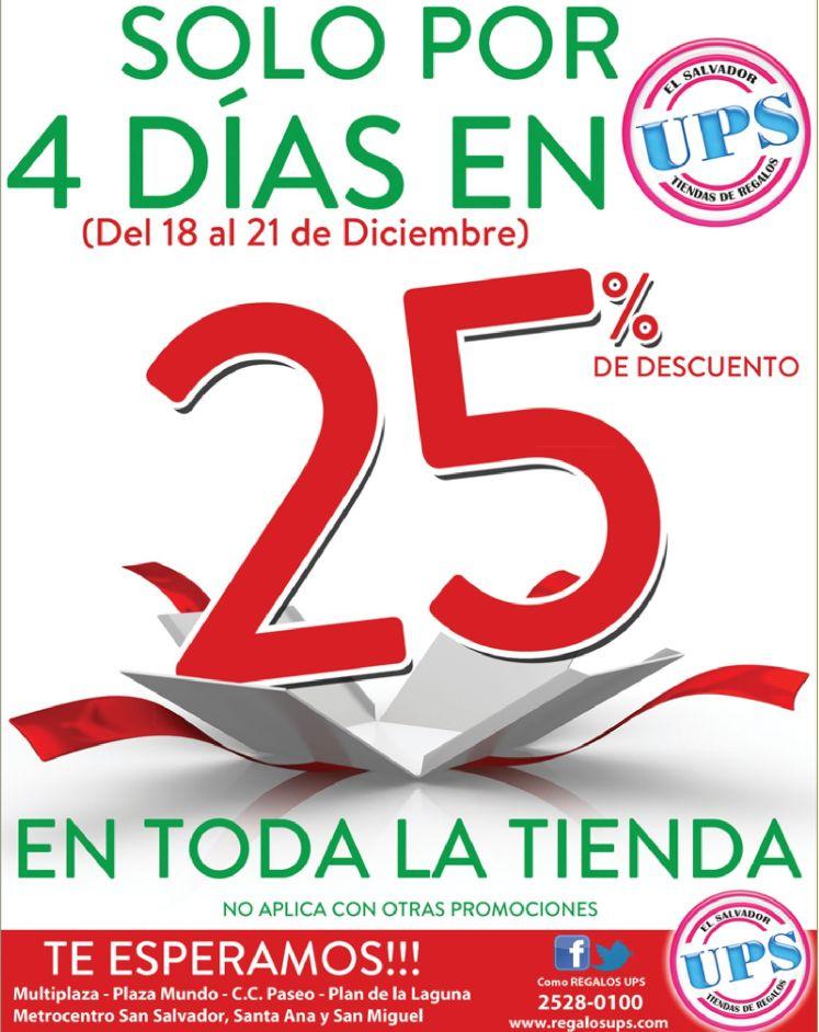 Regalos UPS descuentos por 4 dias - 18dic14