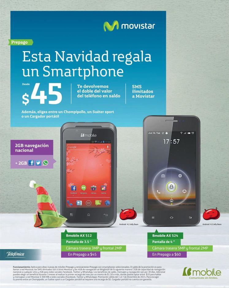 Smartphones movistar desde 45 dolares - 01dic14
