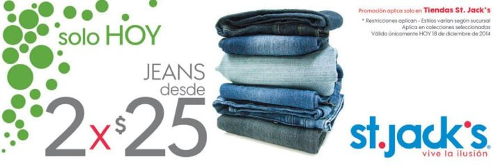 St jacks JEANS offer - 18dic14